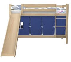 kids loft bed with slide. Simple Loft Aiden Bunk Bed With Slide And Tent For Boys  Custom Kids Furniture Intended Loft With R