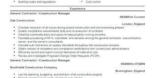 Building Contractor Resume General Contractors Resume Self Employed ...