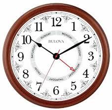 bulova c4804 daily time wall clock