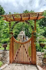 garden gates trellises landscape yard with gate custom cedar fence outdoor pizza oven fence wooden garden garden gates trellises