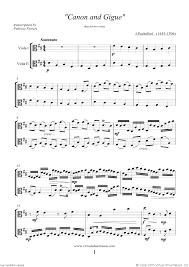 pachelbel canon violin sheet music pachelbel canon in d sheet music for two violas