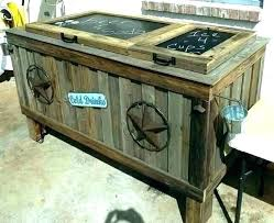 standing wood patio cooler plans wooden ice chest gallery of how to make a