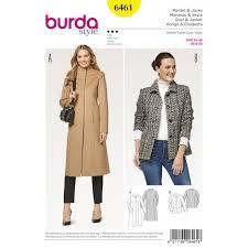 Coat Sewing Patterns Best Burda Style Women's Slender Coats Jackets Dress Sewing Pattern 48