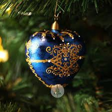Herz Orientalisch Blau Gold