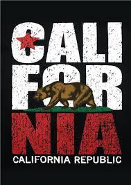 california republic bear scroll poster