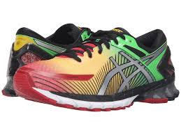 mens asics gel kinsei 6 running shoes m94w77c colour true red silver