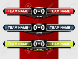 Scoreboard Template Sport Scoreboard Template For Football Or Soccer Vector 4