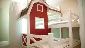 House Bunk Bed Homemade Farm Barn Triple Bunk Bed Diy Youtube
