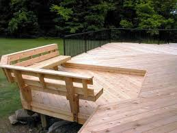 Built in Deck Bench Plans | Bench with back support - Accessories Photo  Gallery - Archadeck
