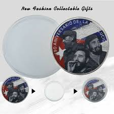 wr fidel castro colored 999 silver memorative coin collector holiday gifts