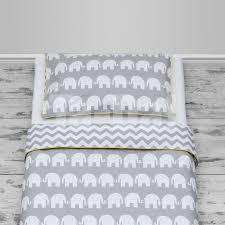 100 cotton cot bed duvet cover set girls and boys grey elephants chevron