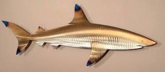 metal reef shark fish beach house art wall home decor sea marine