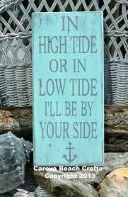 lake signs wall decor beach decor in high tide or low tide beach theme beach sign