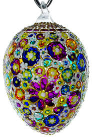 Awe Hand Blown Glass Easter Egg Ornament traditional-christmas-ornaments
