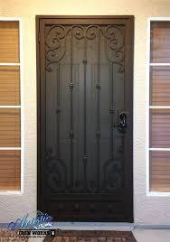 black metal screen doors. Elegant Wrought Iron Storm Door Scrolled Security With Regard To Doors Designs 8 Black Metal Screen