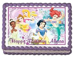 Amazoncom Disney Princess 6 Edible Frosting Sheet Cake Topper 1