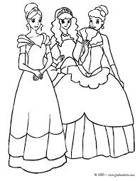 Coloriages 3 Belles Princesses Jouent Ensemble Fr Hellokids Com