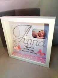 child girl name birth and weight picture sparkle crystal frame