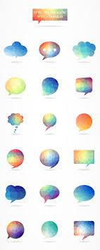 Photoshop Speech Bubble Free Download Vector Polygon Speech Bubble Icons