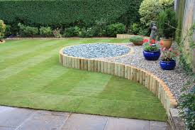 simple landscaping ideas. Stunning Gardens Landscaping In West Sussex Simple Design For A Rear Garden X At Ideas
