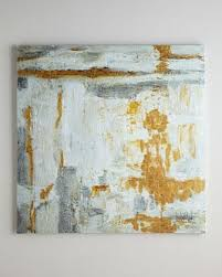large white and gold wall art