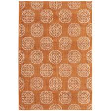 this review is from es medallion rust 4 ft x 6 ft area rug