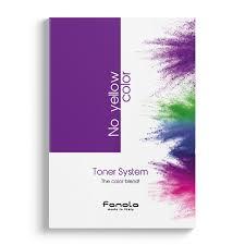Fanola Colour Chart No Yellow Color Toner System Colour Chart