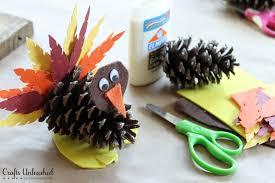 Turkey Craft Kids Pine Cone Turkeys Crafts Unleashed