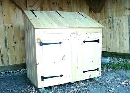 outdoor garbage can storage diy