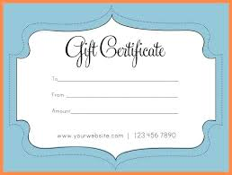 Free Online Gift Certificate Template