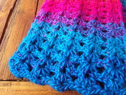 V Stitch Crochet Pattern Magnificent Sew Filomena VStitch Crochet Scarf Pattern
