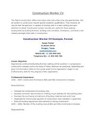 Construction Worker Resume Samples Resume Template Construction Worker Elegant 60 Construction Worker 6