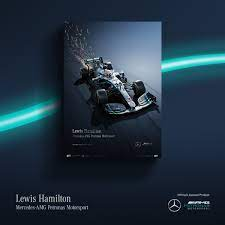 Mercedes f1 car large wall art poster print. Mercedes Amg Petronas F1 Team On Twitter Created Using Iamautomobilist S Signature Technique Of Digital 3d Modeling And Computer Generated Artistry These Posters Are Stunning Important Only 500 Of Each Exclusive Poster Will Be Printed Https T