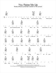 Strumming Patterns For Ukulele Simple You Raise Me Up Sheet Music By Westlife Ukulele With Strumming