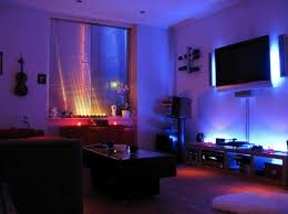 mood lighting living room. Bedroom Bright Colored Comfy Carpet Classy Six Armed Chandelier Plain Wall Paint Dark Brown Wooden Dresser Mood Lighting Living Room