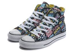 all star shoes for girls 2017. converse outlet - black high tops shoes for women chuck taylor all star graffiti print girls 2017