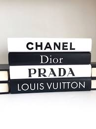 Designer Books Decor Fashion Designer Inspired Books Set Fashion Art Book Set 1