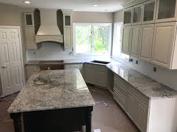 off white kitchen cabinets with black countertops. Dark Cabinets White Countertops Ice Granite With Off Black Kitchen Counter Tops A