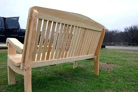 3 ft outdoor bench curved bench