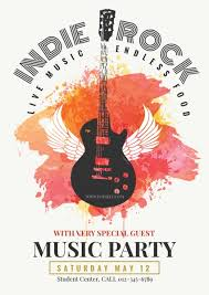 Free Music Poster Templates Concert Poster Maker Make A Concert Poster For Free Fotojet