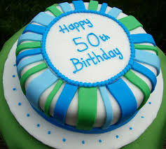 Blue Green Design Dad Birthday Cake Father Cake Design In Lahore