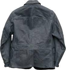 double are elle rrl natural indigo dyeing leatherette jacket car coat indigo men indigo