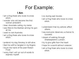 I Am Poems I Am Poems Under Fontanacountryinn Com