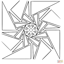 Small Picture Geometric Mandala coloring page Free Printable Coloring Pages