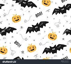 Cute Seamless Halloween Pattern Bats ...