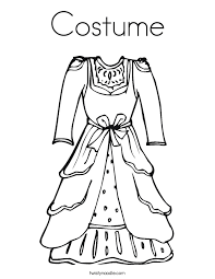 Small Picture Dress Coloring Pages Twisty Noodle