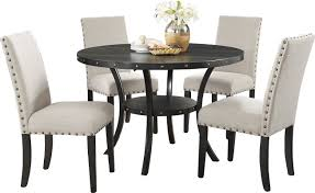 dining room sets. Dining:Premium And Luxury 5 Piece Dining Set With Round Table Italian Room Sets R