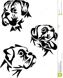 Boxer Dog Clipart Black And White - ClipartXtras