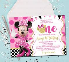 Free Minnie Mouse Birthday Invitations Minnie Mouse 1st Birthday Invitations Awesome Free Printable