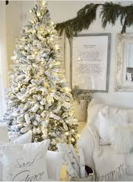 Artificial Christmas Tree Candle Lights 7 5 King Flock Artificial Christmas Tree With 800 Warm